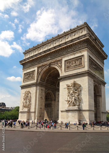 Arc de Triomphe in Paris, France.