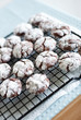 Black and white crinkle cookies