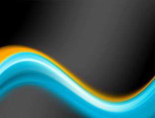 blue and orange wave