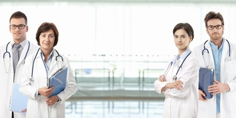 Medical professionals with copyspace