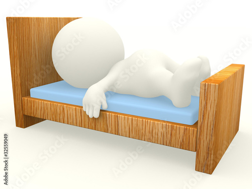 3D guy sleeping