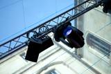 Spots, projecteurs, scène, light-show,spectacle, régie, lumière poster