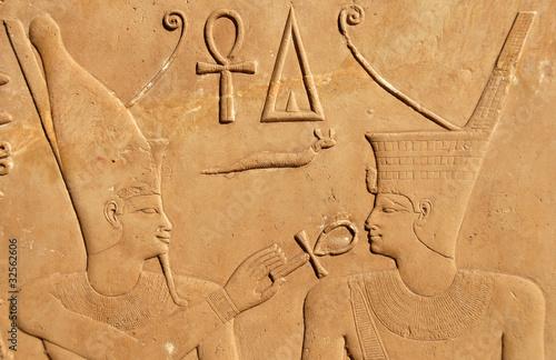 Papiers peints Egypte Relief of Pharaoh Sesostris at Karnak