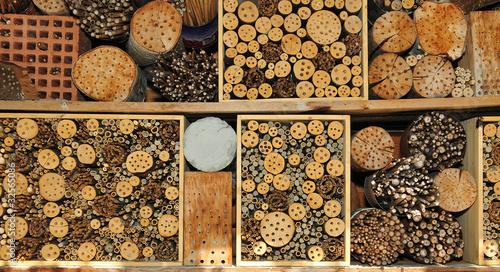 insektenhaus f r bienen hummeln wespen von phokrates lizenzfreies foto 32565086 auf. Black Bedroom Furniture Sets. Home Design Ideas