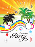 Fototapety abstract summer party theme