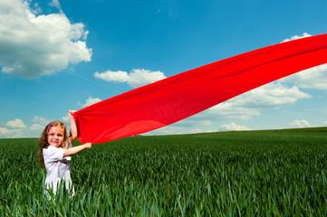 Kind mit dem roten Stoff