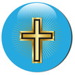 3d golden cross icon.Vector