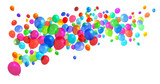 Fototapety Colorful balloons flying