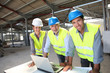 Portrait of construction team on site