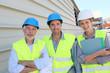 Workteam on building site