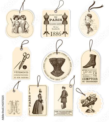 10 étiquettes mode 1900