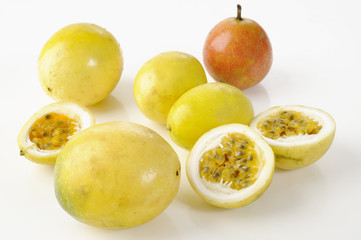 slice yellow passion fruit