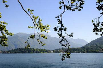 View of Lake Como in Northern Italy