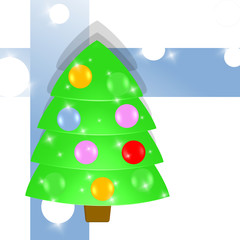 christmas tree - abstract background