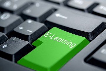 E-Learning grüne Taste
