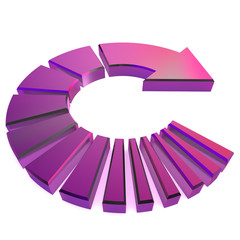 Purple Circular Arrow