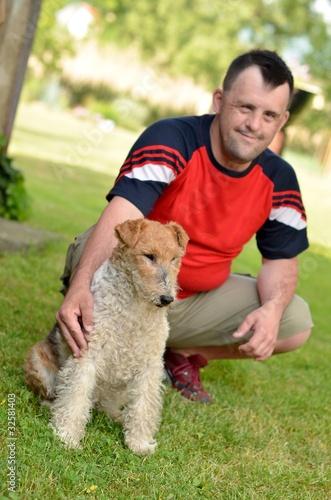 down syndrome avec chien