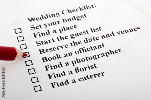 Wedding Check Lists on Wedding Checklist    Vipdesign  32583865   Vedi Portfolio