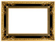 Leinwanddruck Bild - Picture gold frame with a decorative pattern