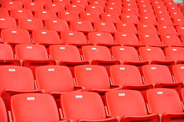 red football seats