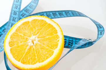 Orange Fruit with measurement