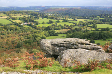 View of Manaton from Hayne Down on Dartmoor