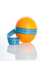 Orange Fruit with measurement