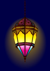 Old style arabic lamp for ramadan / eid - vector