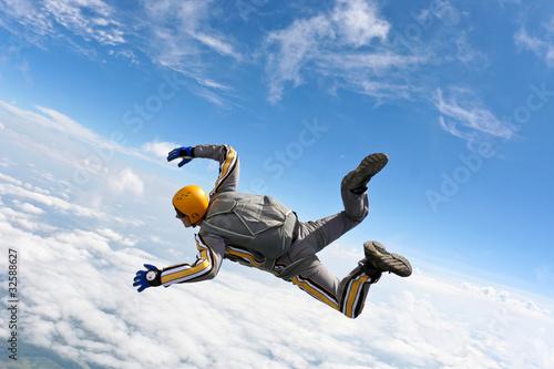 Plexiglas Luchtsport Skydiving photo