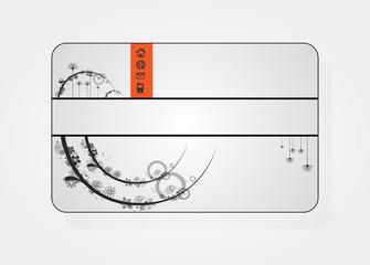 Beautiful gift card, vector illustration