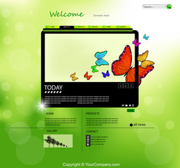 Vector Website Nature Design Template