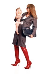 Single-Mom _ Business Woman with child