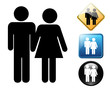 Marriage pictogram and signs