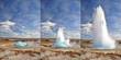 Geyser eruption in steps, Iceland