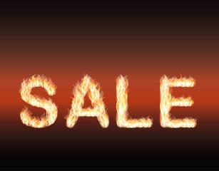 Fire Sale. vector illustration