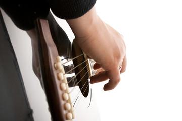 Gitarre Korpus Zupfen Fingertechnik