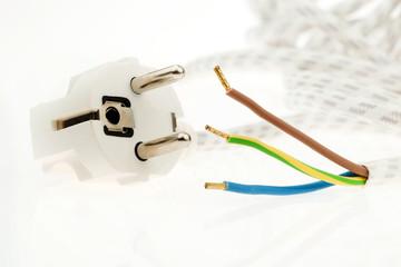 Ein Stromkabel mit Stecker