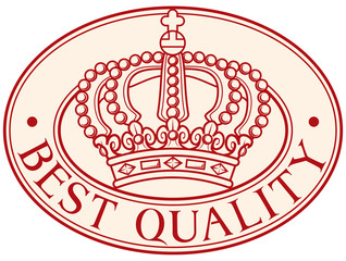 best quality - royal crown symbol (seal)