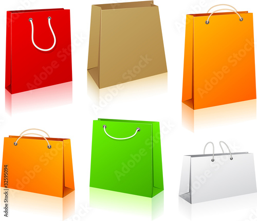 Set of shopping bags.