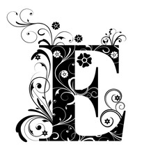 Verzierter Buchstabe E