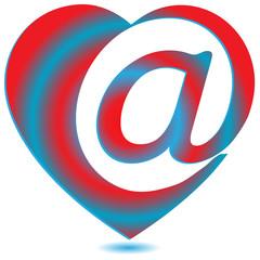 Heart mail.Vector