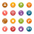 Colored dots - warning icons