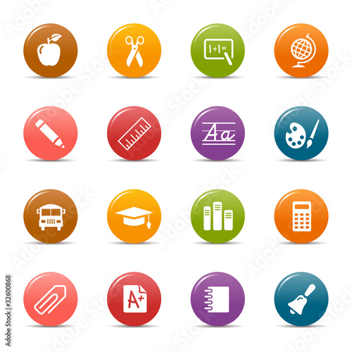 Colored dots - School Icons