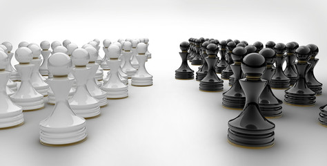 Pawn chess isolated 3d render © Iaroslav Neliubov