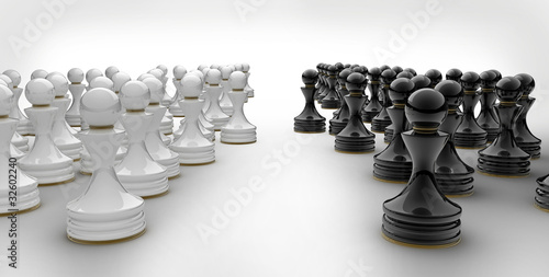Pawn chess isolated 3d render