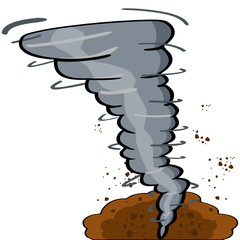 Cartoon tornado