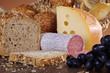 Brotzeit, Brot, Käse und Wurst