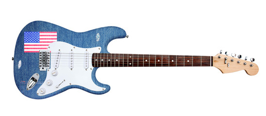 jeans electric guitar