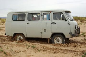 Van embourbé, Mongolie