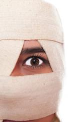 Portrait of a female having  plastic surgery